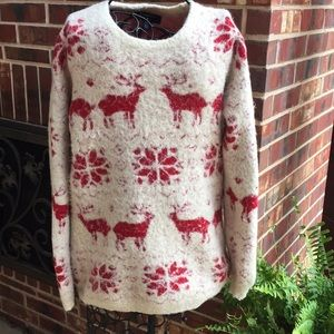 Urban Outfitters BYCORPUS Reindeer Fuzzy Sweater